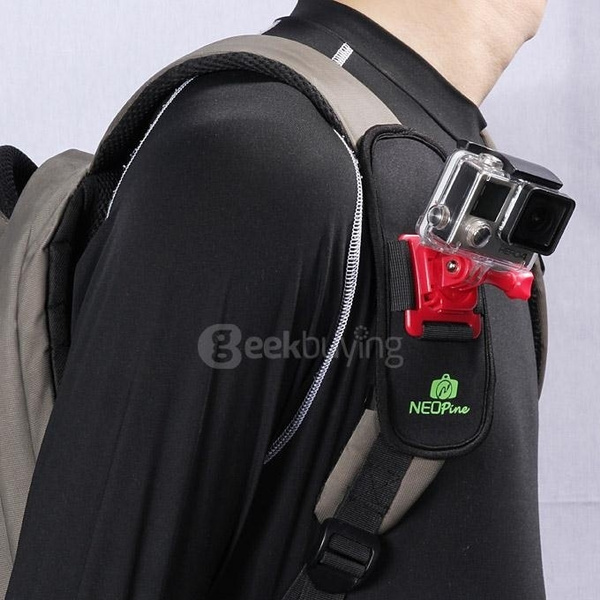 Picture of Neopine Nsc-1 Adjustable Backpack Mount Camera Accessory For Xiaomi Yi / Gopro Action Camera
