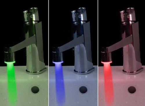 Picture of 3 Color Sensor Led Light Water Faucet Tap Temperature For Kitchen/bathroom New