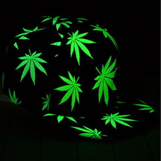 Baseball Hat, luminouscap, hiphopcapshat, leaf