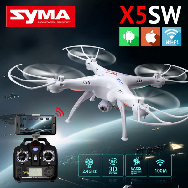 Picture of Syma X5sw Fpv Wifi Support Ios Android Phone Rc Drone With Hd Camera 2.4g 6 Axis Rc Helicopter Quadcopter Real Time Video