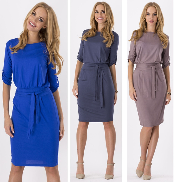 office dress, Sleeve, Elegant, Cocktail Party Dress