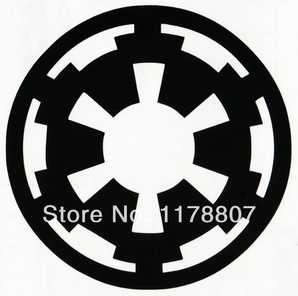 Wish Star Wars Galactic Empire Logo Symbol Sticker Car Rear