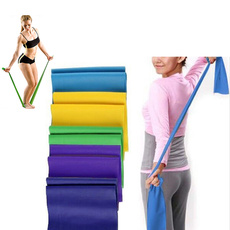 1.5m Elastic Resistance Exercise Fitness Band Yoga Gym Pilates Rubber Stretch