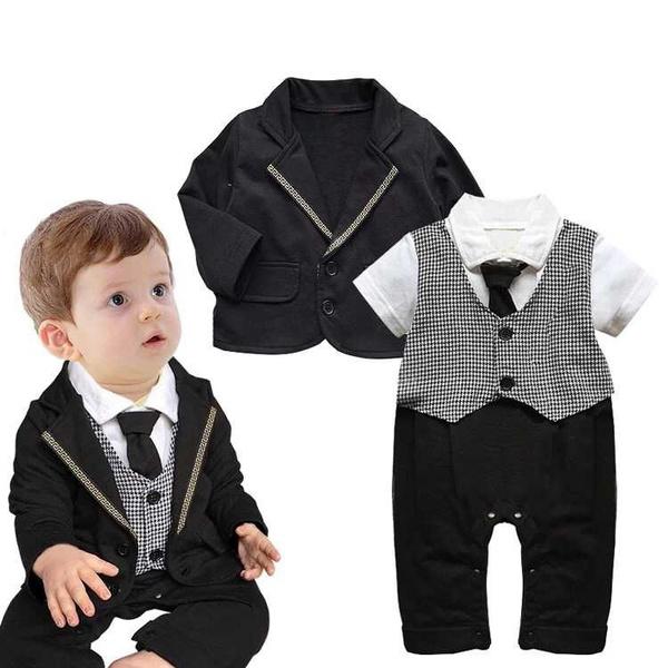 Wish | A Boy and Gentleman Suit Children Infant Suit Jacket Wedding ...