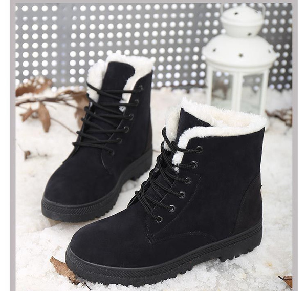 Wish | Classic Women's Snow Boots Fashion Winter Short Boots