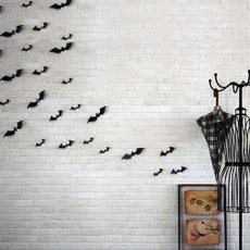12pcs Black Red 3D DIY PVC Bat Wall Sticker Decal Home Halloween Decoration