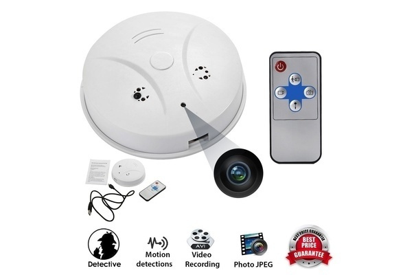 Picture of Smoke Detector Security Dvr Remote Hidden Hd Camera Motion Detection Nanny B3 Size 114 G Color White