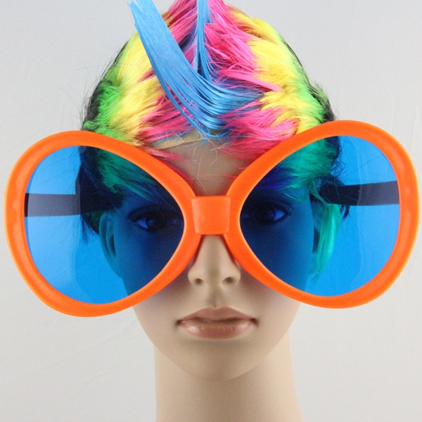 Football Fans Glasses Oversized Multicolour Props Big Funny Glasses Party  Supplies April Fool's Day