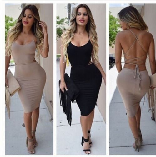 Picture of Sexy Women Bandage Bodycon Dress Evening Cocktail Party Night Club Wear Dress