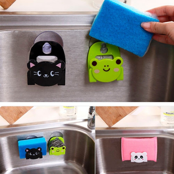 Picture of Fashion Carton Dish Cloth Sponge Holder With Suction Cup Home Decor Dinning Room