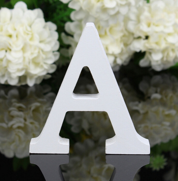 Picture of 10x1.2cm Wood Wooden Letters Alphabet Wedding Birthday Home Decorthick Wish Zh