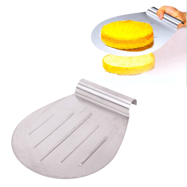 Miraculous Stainless Steel Cake Safe Transfer Device Cake Shovel Pastry Pizza Tray Baking Tools Machost Co Dining Chair Design Ideas Machostcouk