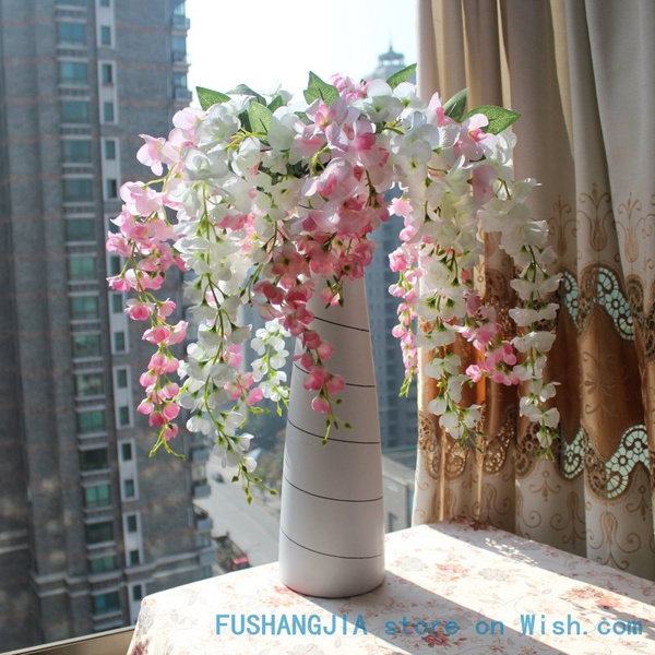 Picture of 1 Pcs Artificial Wisteria Silk Flower Home Wedding Party Decoration 4 Colors Available F107
