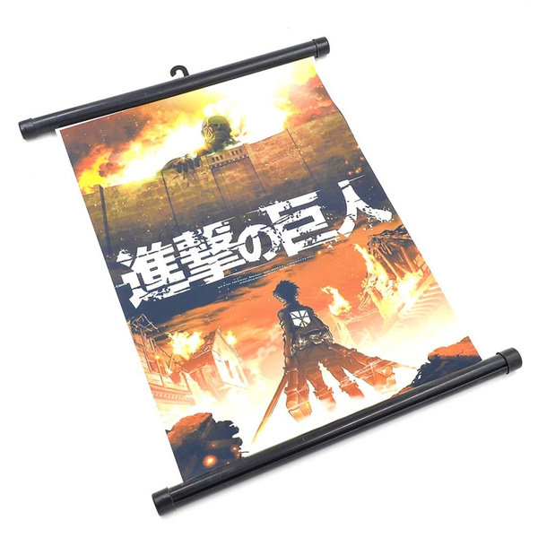 Picture of Attack On Titan Poster Wall Scroll Painting Color Multicolor