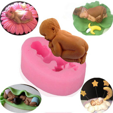 3D Silicone Baby Fondant Mold For Cake Decorating Cookware Dining Bar Non-Stick Cake Decorating Fondant Christmas Kithen Tools # hkmagic #