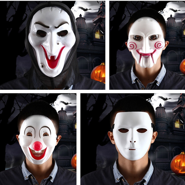Halloween Maskerad.Horror Screaming Witch Mask Saw Billy Pvc Mask Halloween Masquerade Parties Jabbawockeez Hip Hop Mask Clown Mask Captain Style Half Face Mask The