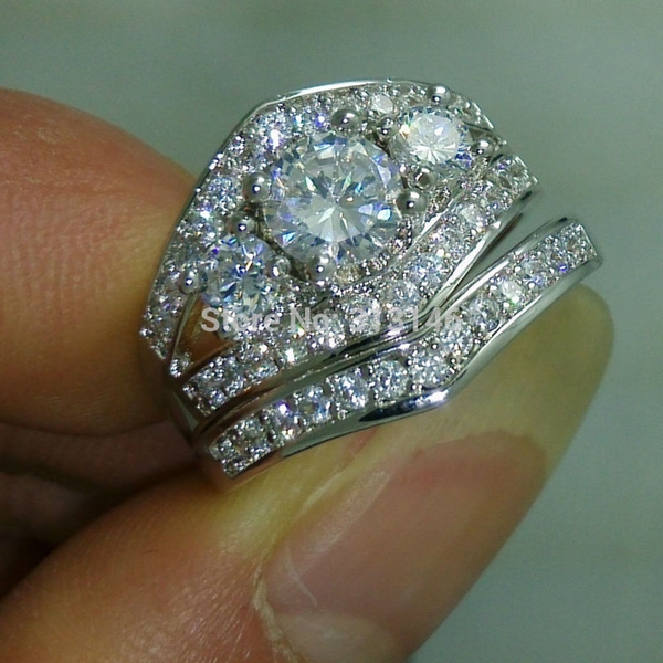 Wish Size 510 Dazzling CZ Crystal 10K White Gold Filled Cubic
