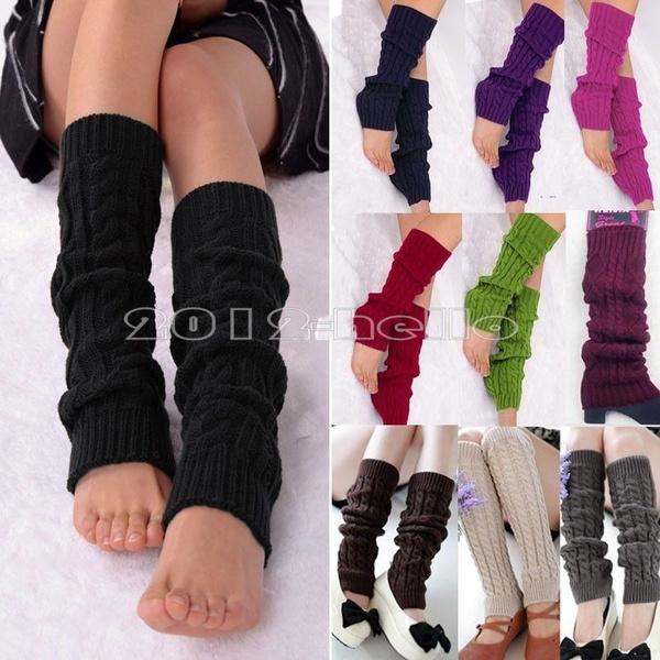 kneeamplegwarmer, Polyester, kneehighsock, candy color