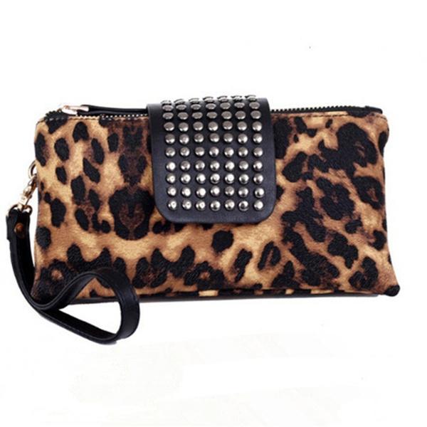 Picture of Women Fashion Rivet Handbag Leather Wallet