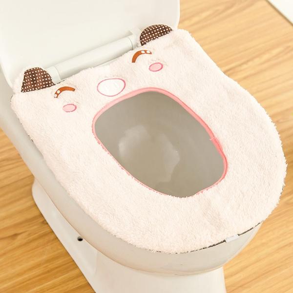 Wish   Bathroom Warmer Toilet Washable Cloth Toilet Seat Warmer Pad ...