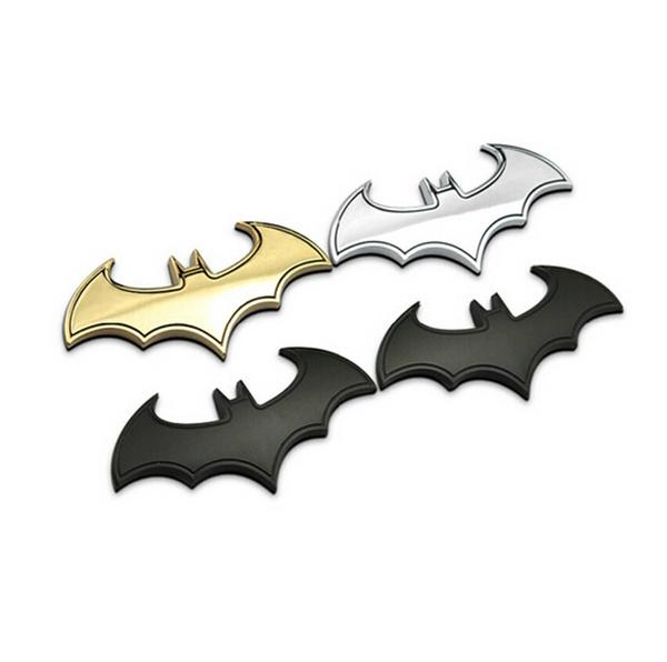 Car Sticker Chrome Batman Bat Dark Knight Logo Metal 3D Emblem Badge Decals 1PC