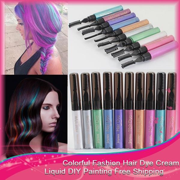 1 PC/Set Hair Color Hair Dye Color Easy Temporary Non-Toxic DIY Hair ...