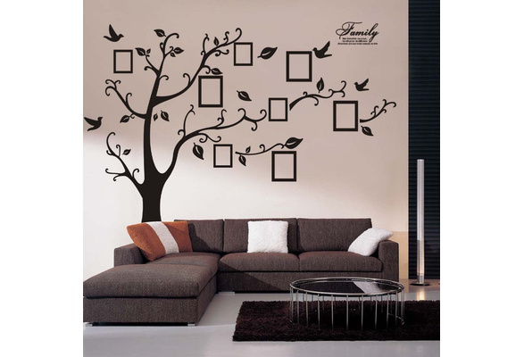180*250cm 3D DIY Adhesive Wall Stickers Photo Tree PVC Wall Decals Mural Art