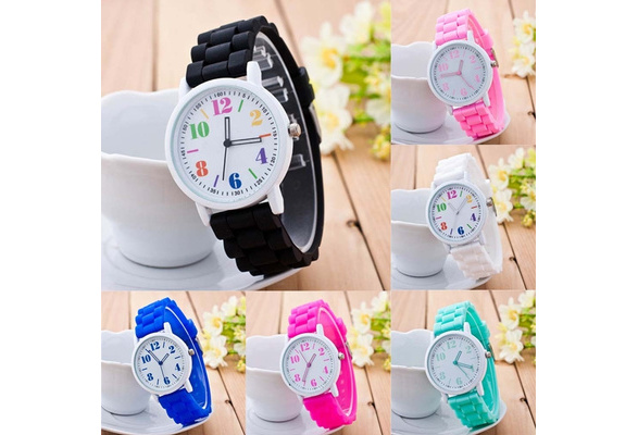 New Fashion Women Sport Silicone Strap Quartz Analog Wrist Watch High Quality