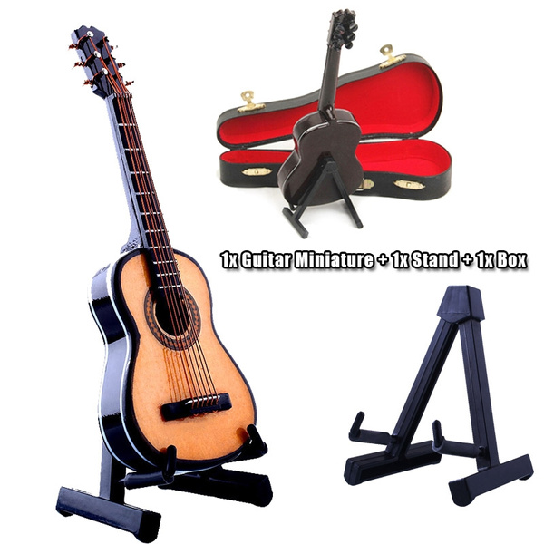 Picture of 112 Mini Guitar Violin Wooden Miniature Musical Instrument Music With Box
