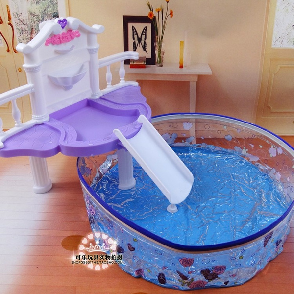 Diy barbie doll furniture Do It Yourself Wish 1set Diy Swimming Pool Doll Toy Doll Furniture Accessories For Barbie Dolls Round Decor Wish 1set Diy Swimming Pool Doll Toy Doll Furniture Accessories