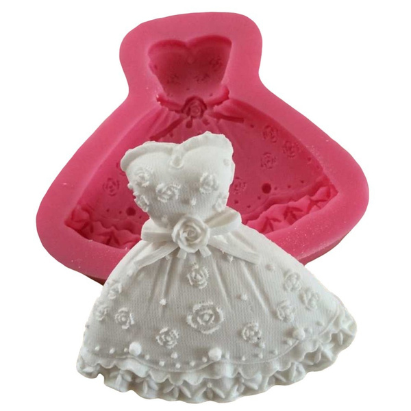 Picture of Wedding Dress Fondant Mould Cupcake Cake Fondant Craft Chocolate Mold