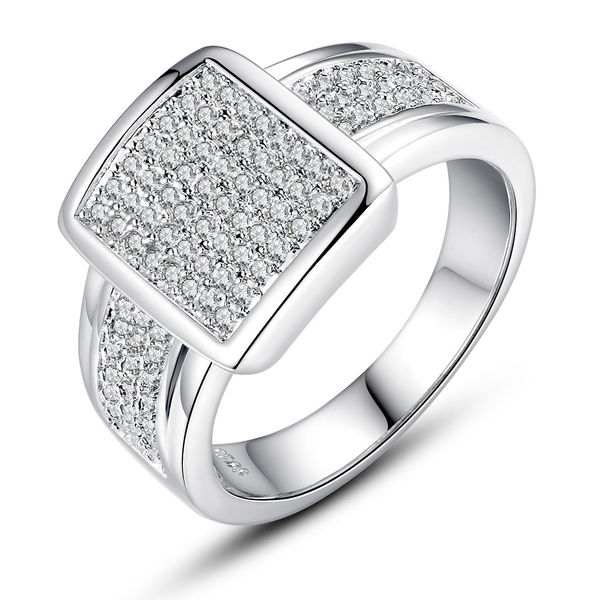 Wish 925 Sterling Silver Diamond Engagement Ring Fashion Jewelry