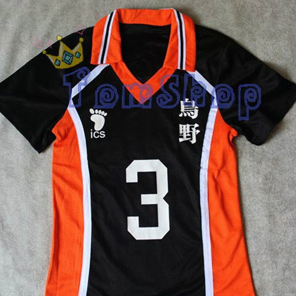Karasuno High School Uniform Jersey No.3 Asahi Azumane Cosplay Anime Haikyuu!