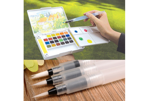3 Sizes Water brush ink Pen for Water color drawing/ Illustration
