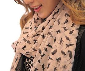 Fashion, chiffon scarf, chiffon, Shawl Wrap