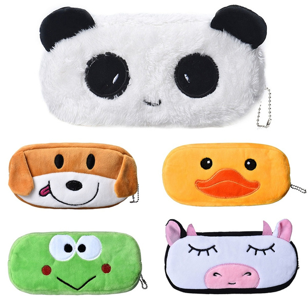 Picture of Fashion Lovely Cartoon Panda Pencil Case Plush Large Pen Bag Coin Bag Coin Purse