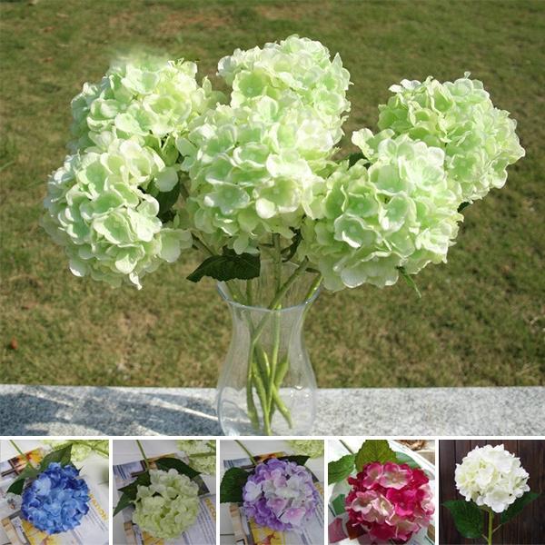 Picture of Faux Artificial Silk Floral Flower Bouquet Hydrangea Party Decor Craft