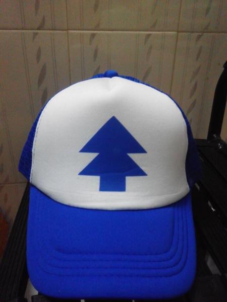 ed7083d850435 Curved Bill BLUE PINE TREE Dipper Gravity Falls Cartoon Hat Cap ...