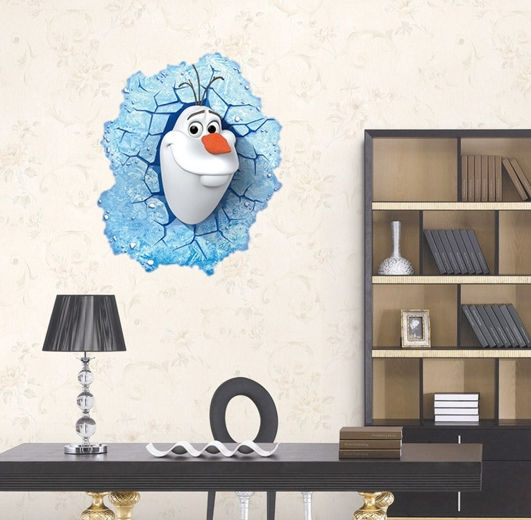 3d generic snow glace vinyl wall sticker wall paper wall for Glace decoration