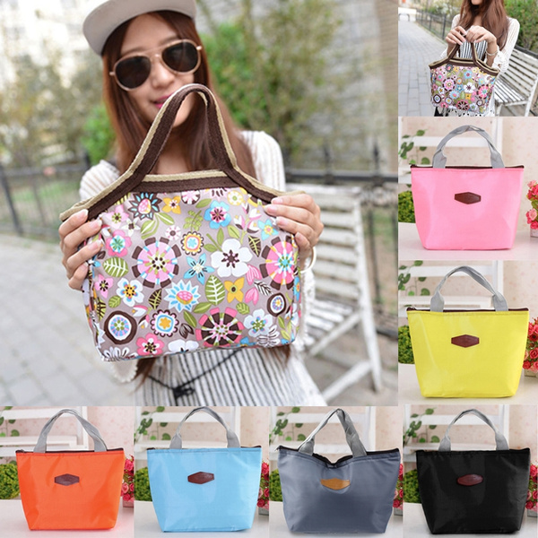 Picture of Globaltop Fashion Portable Flower Pattern Lunch Bags Lunch Packet Lunch Food Storage Bags
