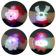1PC Christmas Ornaments Snowman Old Antlers Wrist Ornament Toy Pat Circle Christmas Decorations