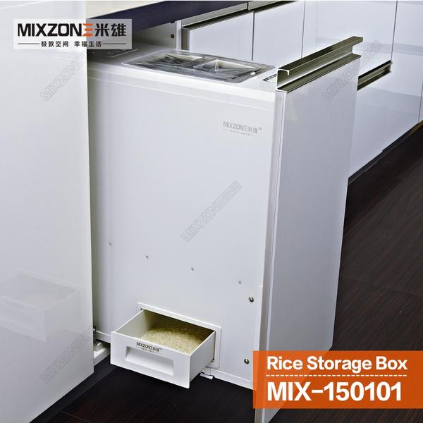 Wish | Kitchen Cabinet Pull Out Quantitative Rice Dispenser Soft Closeu0026Stop  Sliding Rice Storage Box