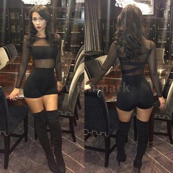 overrall, Women Rompers, Shorts, clubwear