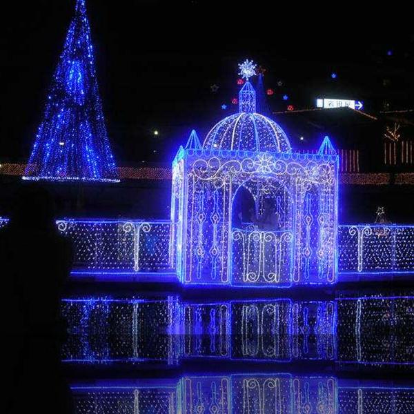 newest collection 0b06d 834bd US Power Plug Wedding Party 672 LED Net Lights 4m x 6m LED Giant fairy  light Christmas decoration Xmas illumination