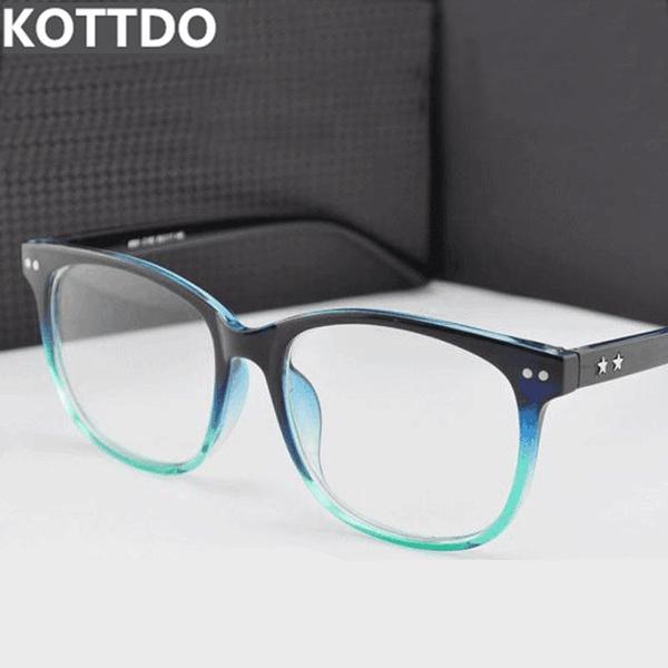 Picture of Fashion Square Retro Men Women Designer Eyeglasses Frame Optical Computer Eye Glasses Frame