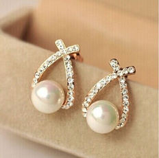 Fashion, Jewelry, Pearl Earrings, Stud Earring