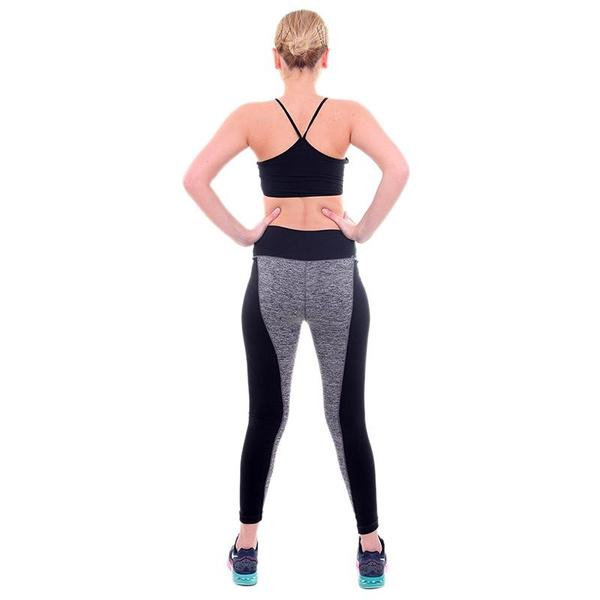 Women Fashion Black And Gray Paneled Plus Slimming Pants Leggings For Running/Yoga/Sport S M L XL XXL XXXL