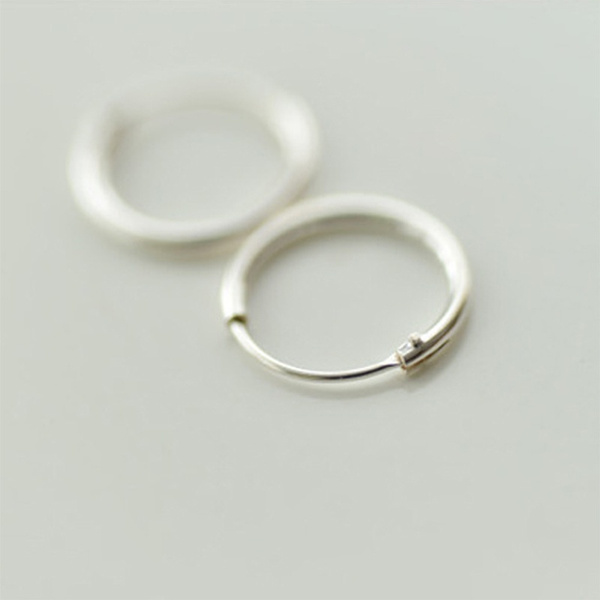 Picture of Silver Small Endless Hoop Rings Lip Nose Ear Studs 7/10/13mm