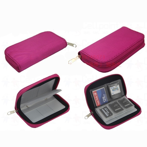 Memory Card Storage Carrying Pouch Case Holder Wallet For CF/SD/SDHC/MS/DS
