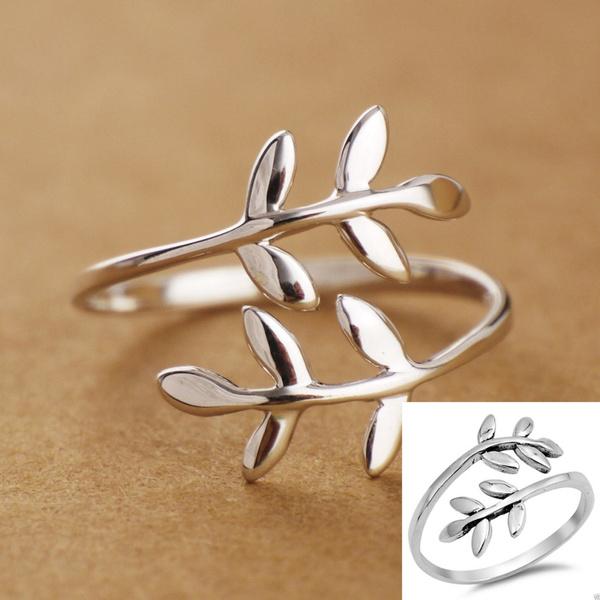 Sterling, leaf, Jewelry, Vintage